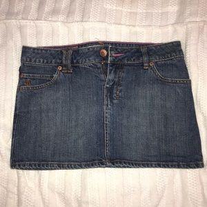 Genuine Volcom Brand Jeans Dark Wased Mini Skirt